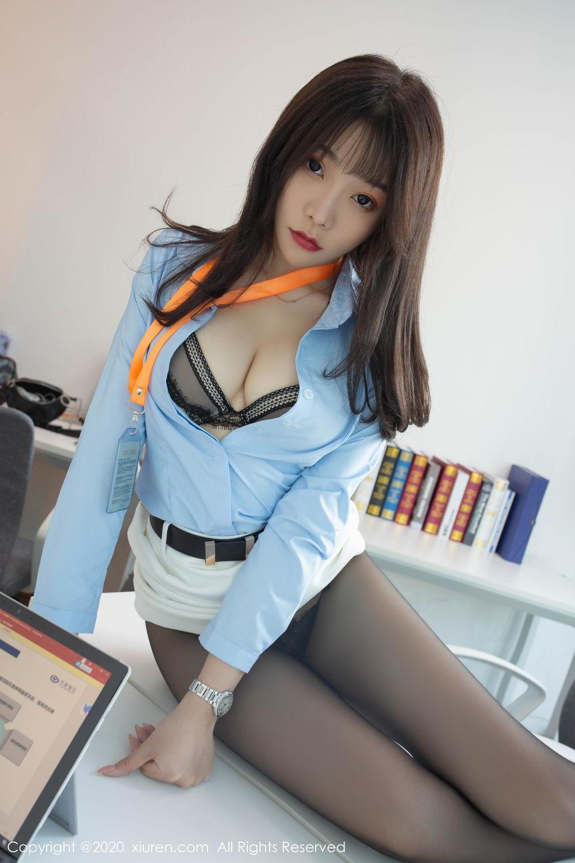 [XiuRen] Vol.2047 Chen Zhi 5P, Black Silk, Chen Zhi, Underwear, Uniform, Xiuren