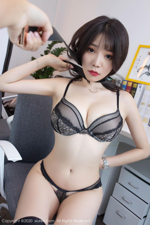 [XiuRen] Vol.2047 Chen Zhi 61P, Black Silk, Chen Zhi, Underwear, Uniform, Xiuren
