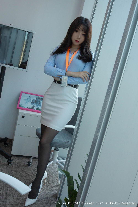 [XiuRen] Vol.2047 Chen Zhi 6P, Black Silk, Chen Zhi, Underwear, Uniform, Xiuren