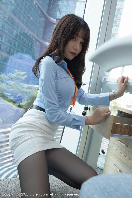 [XiuRen] Vol.2047 Chen Zhi 7P, Black Silk, Chen Zhi, Underwear, Uniform, Xiuren