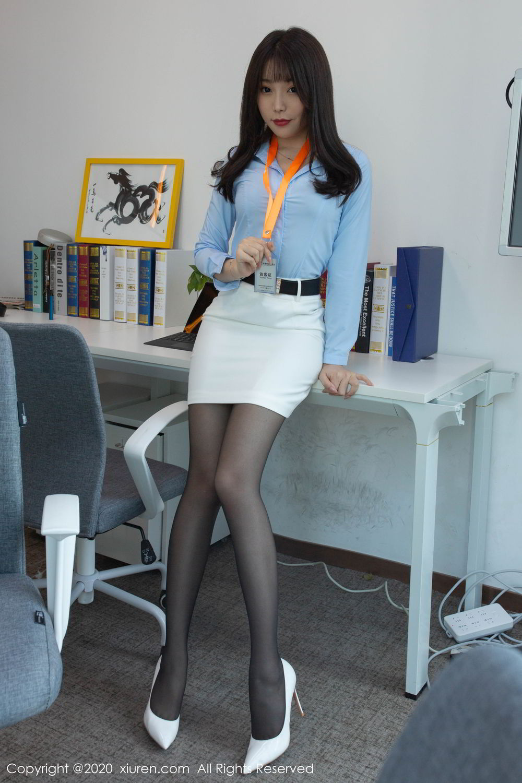 [XiuRen] Vol.2047 Chen Zhi 9P, Black Silk, Chen Zhi, Underwear, Uniform, Xiuren