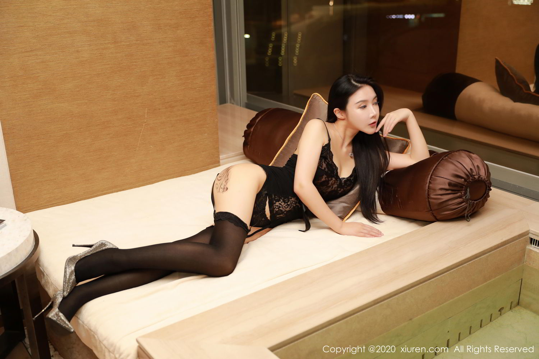 [XiuRen] Vol.2071 Xuan Xuan Cecillia 6P, Black Silk, Lu Xuan Xuan, Underwear, Xiuren