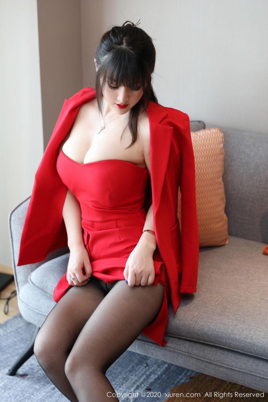 [XiuRen] Vol.2087 Chen Shi Shi 12P, Black Silk, Chen Shi Shi, Underwear, Uniform, Xiuren