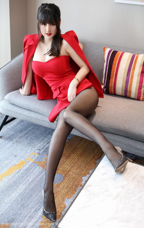[XiuRen] Vol.2087 Chen Shi Shi 15P, Black Silk, Chen Shi Shi, Underwear, Uniform, Xiuren