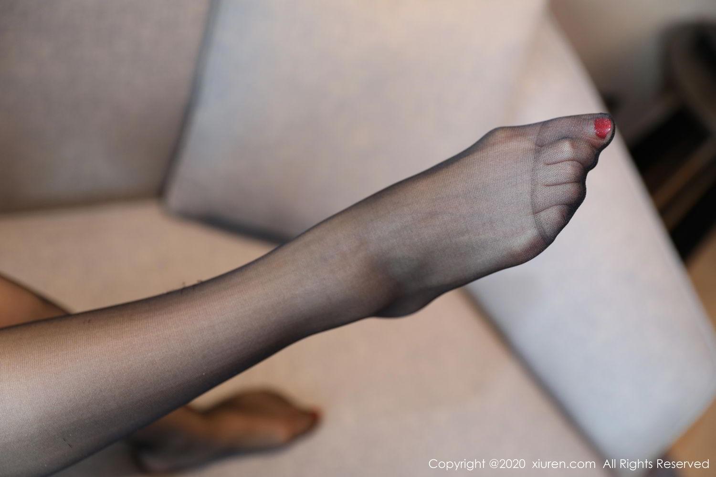 [XiuRen] Vol.2087 Chen Shi Shi 43P, Black Silk, Chen Shi Shi, Underwear, Uniform, Xiuren