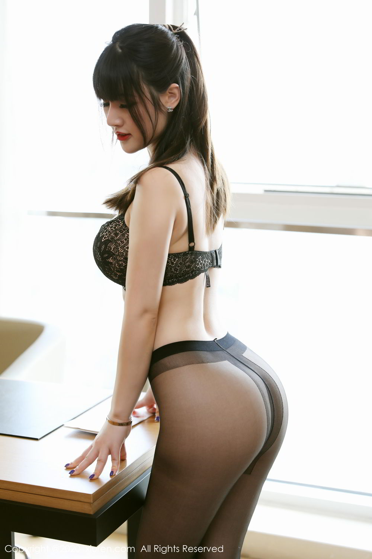[XiuRen] Vol.2087 Chen Shi Shi 46P, Black Silk, Chen Shi Shi, Underwear, Uniform, Xiuren