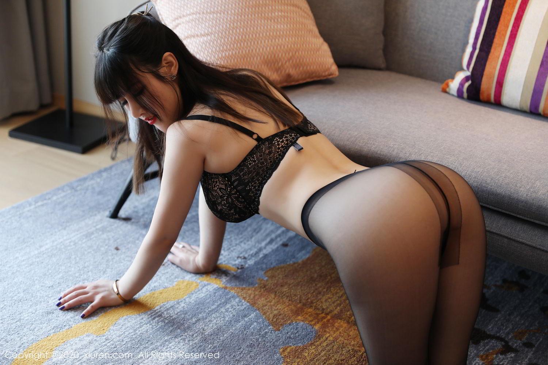 [XiuRen] Vol.2087 Chen Shi Shi 51P, Black Silk, Chen Shi Shi, Underwear, Uniform, Xiuren
