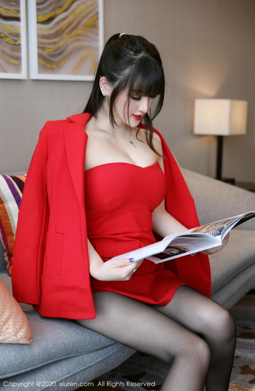 [XiuRen] Vol.2087 Chen Shi Shi 57P, Black Silk, Chen Shi Shi, Underwear, Uniform, Xiuren