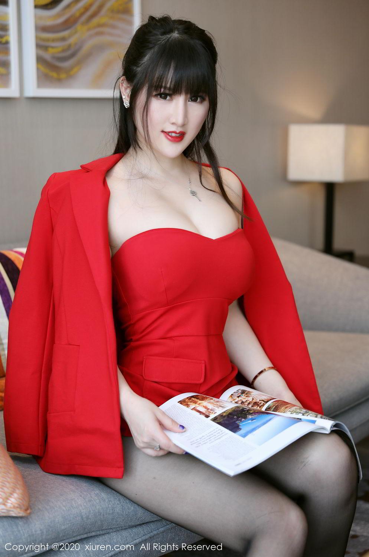[XiuRen] Vol.2087 Chen Shi Shi 59P, Black Silk, Chen Shi Shi, Underwear, Uniform, Xiuren