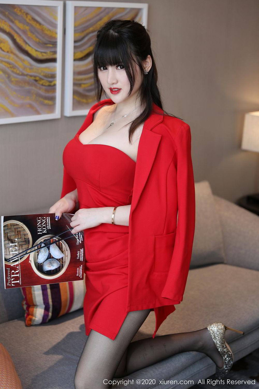 [XiuRen] Vol.2087 Chen Shi Shi 61P, Black Silk, Chen Shi Shi, Underwear, Uniform, Xiuren