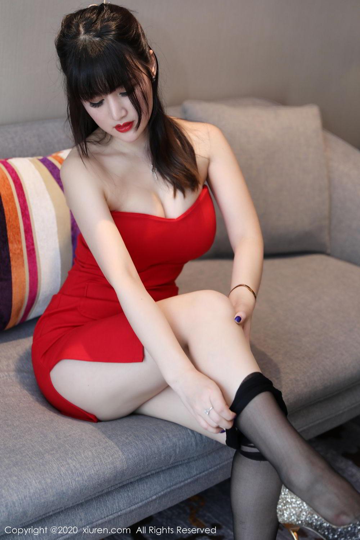 [XiuRen] Vol.2087 Chen Shi Shi 63P, Black Silk, Chen Shi Shi, Underwear, Uniform, Xiuren