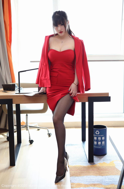[XiuRen] Vol.2087 Chen Shi Shi 6P, Black Silk, Chen Shi Shi, Underwear, Uniform, Xiuren