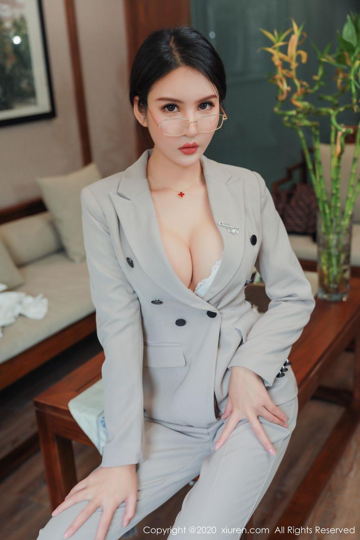 [XiuRen] Vol.2098 Solo Yi Fei 14P, Solo Yi Fei, Uniform, Xiuren
