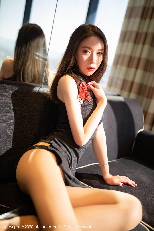 [XiuRen] Vol.2103 Meng Xin Yue 10P, Black Silk, Meng Xin Yue, Tall, Underwear, Xiuren