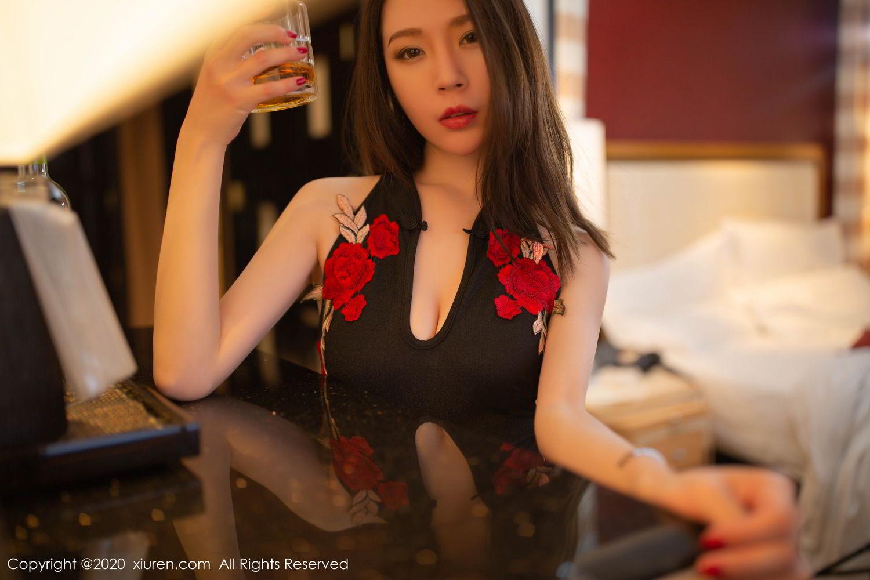 [XiuRen] Vol.2103 Meng Xin Yue 18P, Black Silk, Meng Xin Yue, Tall, Underwear, Xiuren
