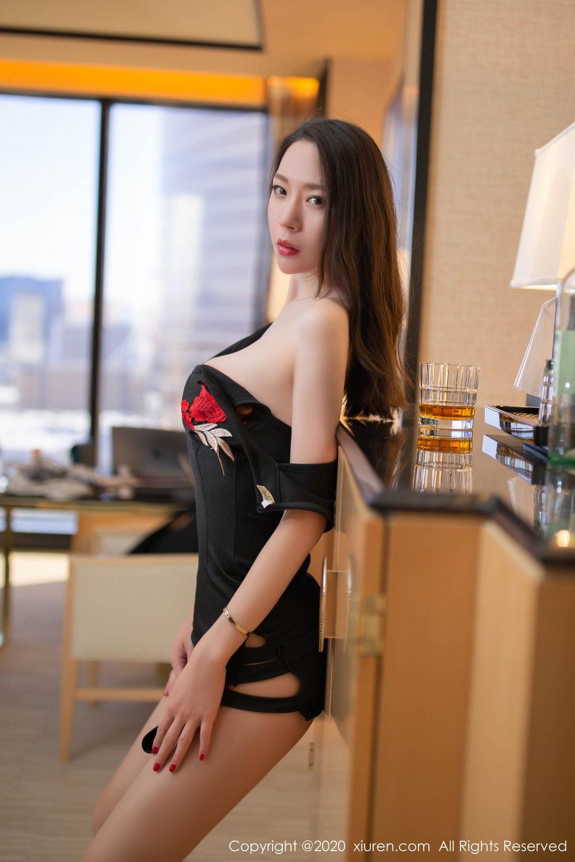 [XiuRen] Vol.2103 Meng Xin Yue 21P, Black Silk, Meng Xin Yue, Tall, Underwear, Xiuren
