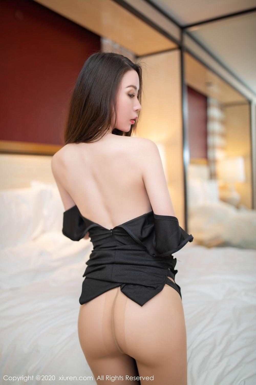 [XiuRen] Vol.2103 Meng Xin Yue 33P, Black Silk, Meng Xin Yue, Tall, Underwear, Xiuren