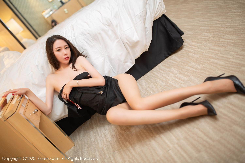 [XiuRen] Vol.2103 Meng Xin Yue 42P, Black Silk, Meng Xin Yue, Tall, Underwear, Xiuren