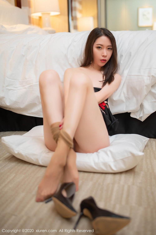 [XiuRen] Vol.2103 Meng Xin Yue 50P, Black Silk, Meng Xin Yue, Tall, Underwear, Xiuren