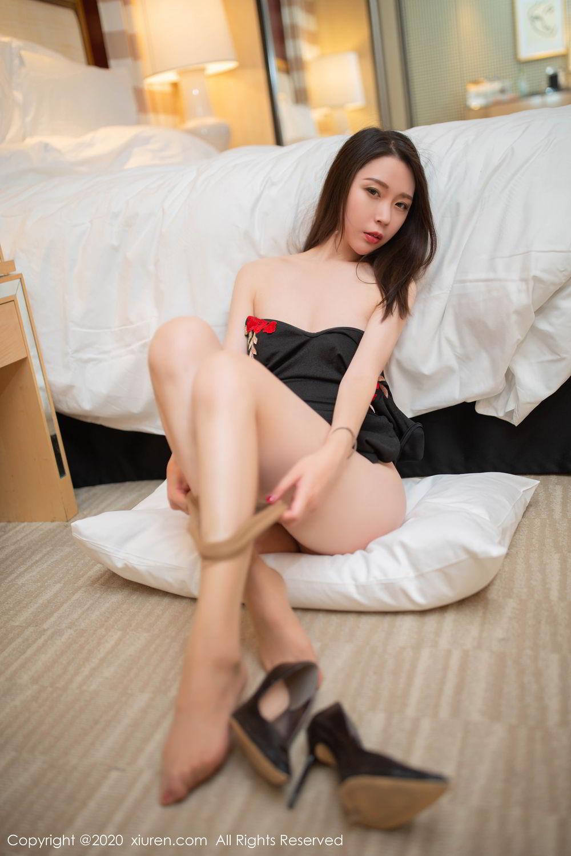 [XiuRen] Vol.2103 Meng Xin Yue 51P, Black Silk, Meng Xin Yue, Tall, Underwear, Xiuren