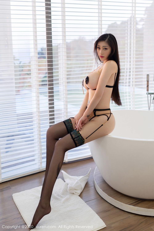 [XiuRen] Vol.2104 Da Ji Toxic 16P, Black Silk, Da Ji Toxic, Xiuren