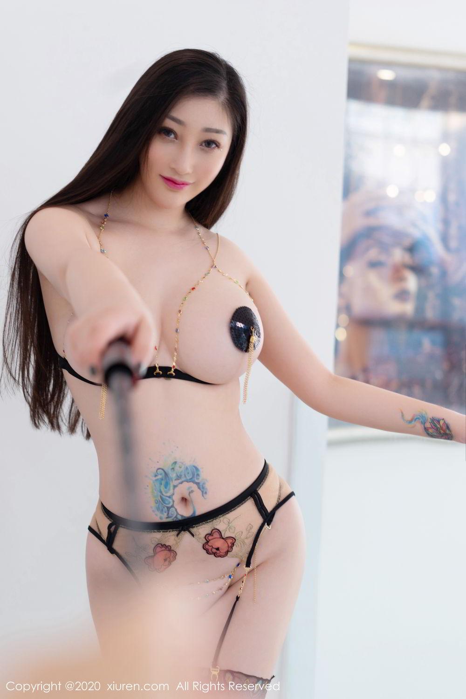 [XiuRen] Vol.2104 Da Ji Toxic 2P, Black Silk, Da Ji Toxic, Xiuren