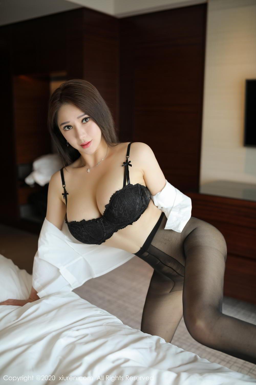 [XiuRen] Vol.2111 Zhou Xin Xin 10P, Black Silk, Tall, Xiuren, Zhou Xin Xin