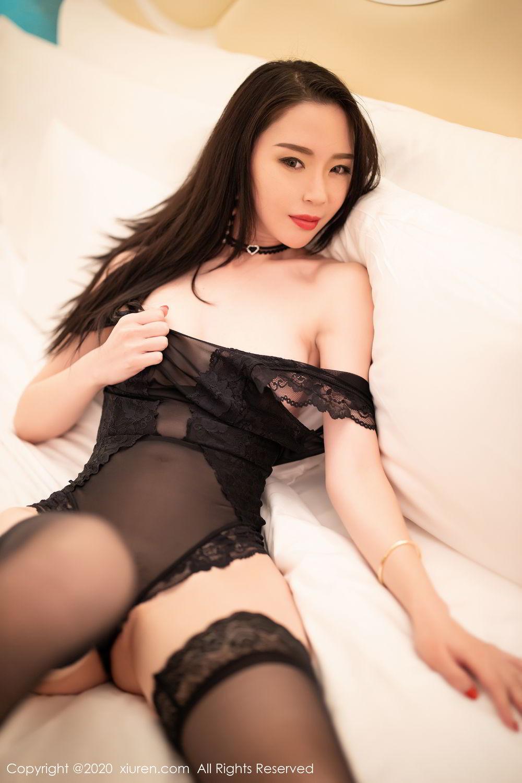[XiuRen] Vol.2112 Meng Xin Yue 44P, Black Silk, Meng Xin Yue, Tall, Underwear, Xiuren