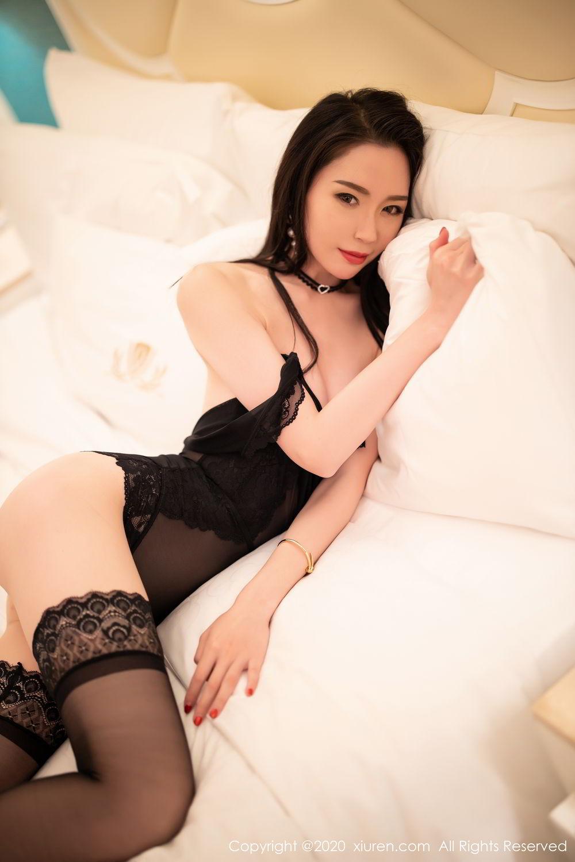 [XiuRen] Vol.2112 Meng Xin Yue 54P, Black Silk, Meng Xin Yue, Tall, Underwear, Xiuren