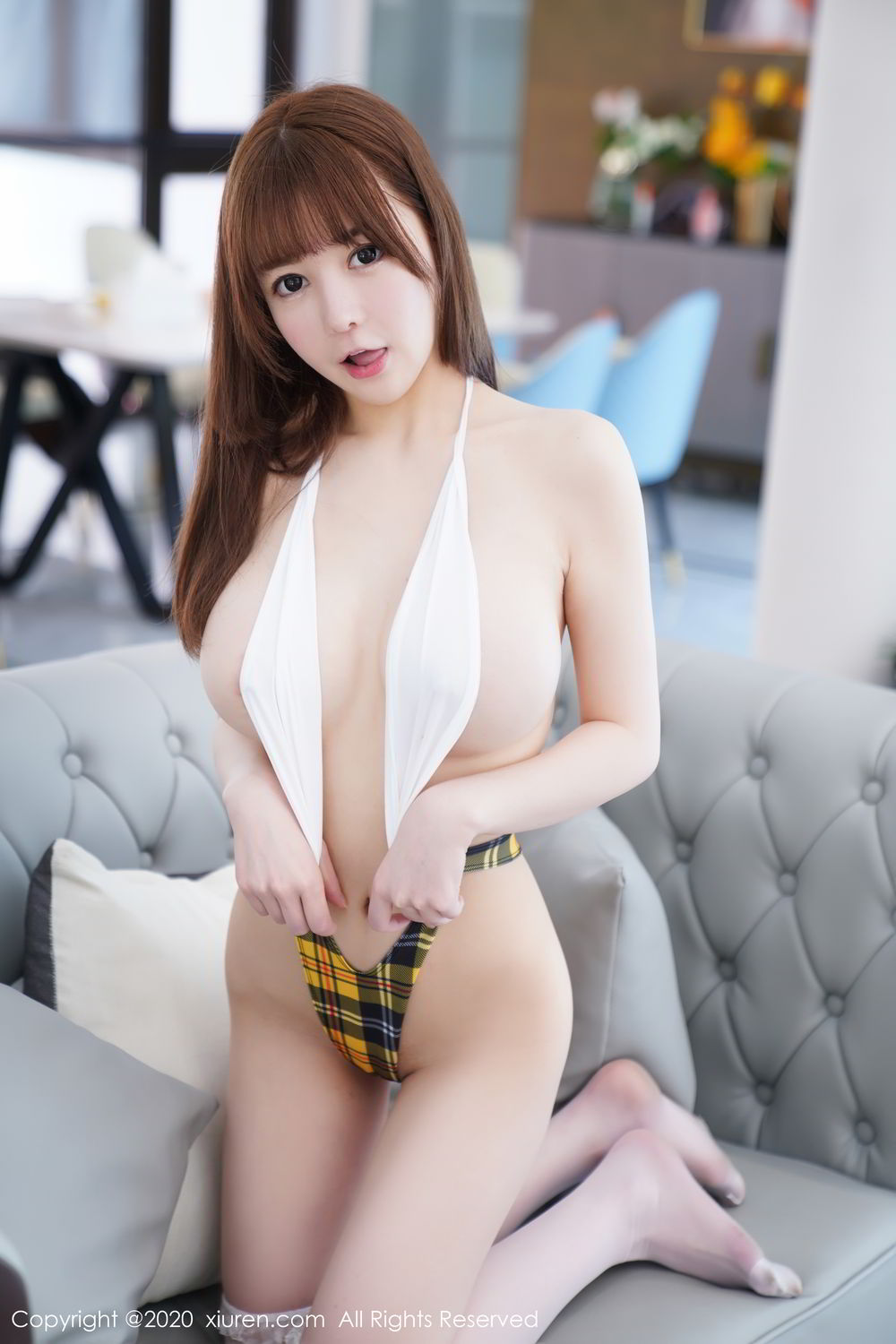 [XiuRen] Vol.2115 Uu Jiang 6P, Baby Face Big Boobs, Cute, UU Jiang, Xiuren
