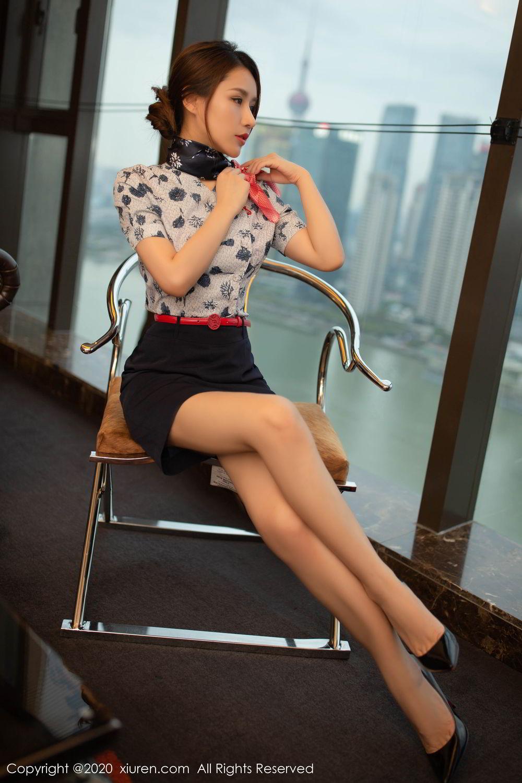 [XiuRen] Vol.2117 Xu An An 1P, Stewardess, Underwear, Xiuren, Xu An An