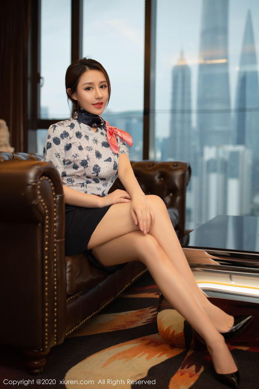 [XiuRen] Vol.2117 Xu An An 2P, Stewardess, Underwear, Xiuren, Xu An An