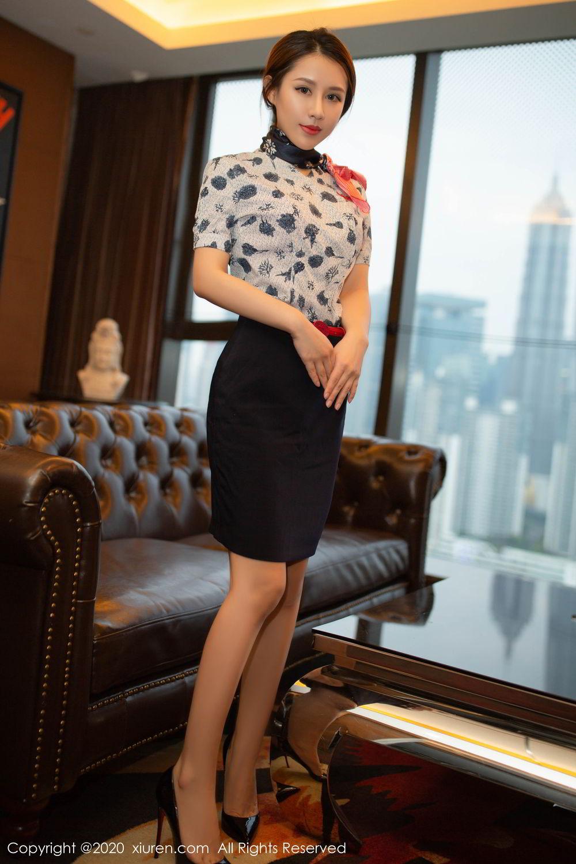 [XiuRen] Vol.2117 Xu An An 6P, Stewardess, Underwear, Xiuren, Xu An An
