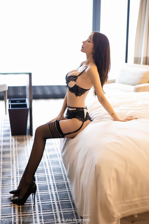 [XiuRen] Vol.2118 Zhou Yu Xi 17P, Black Silk, Tall, Underwear, Xiuren, Zhou Yu Xi