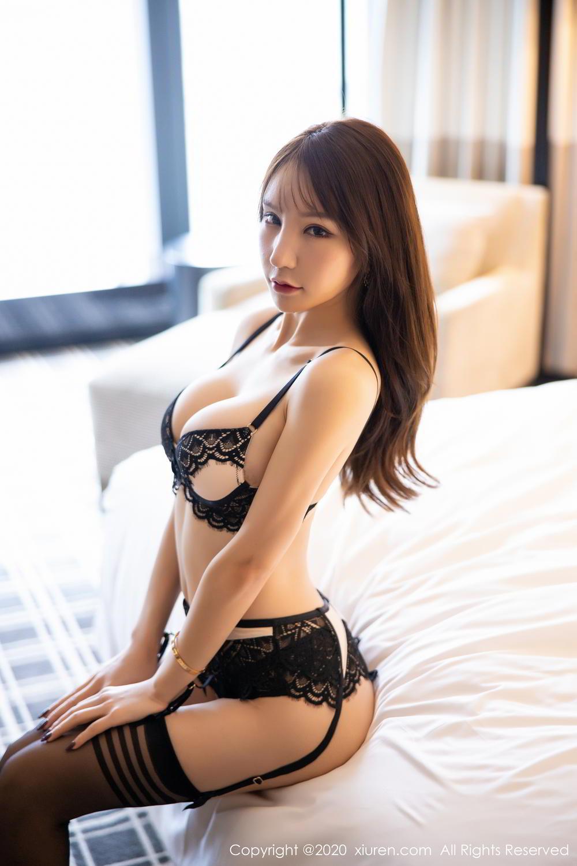 [XiuRen] Vol.2118 Zhou Yu Xi 18P, Black Silk, Tall, Underwear, Xiuren, Zhou Yu Xi