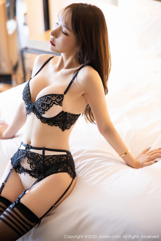 [XiuRen] Vol.2118 Zhou Yu Xi 20P, Black Silk, Tall, Underwear, Xiuren, Zhou Yu Xi