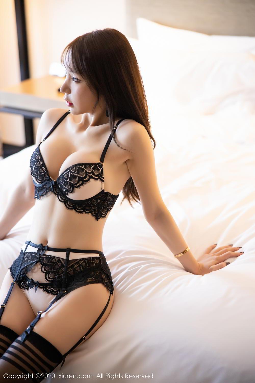 [XiuRen] Vol.2118 Zhou Yu Xi 21P, Black Silk, Tall, Underwear, Xiuren, Zhou Yu Xi