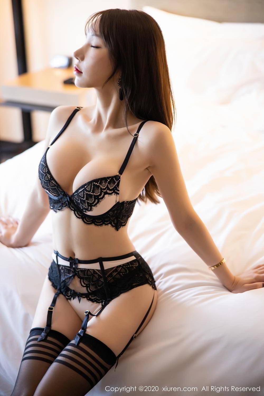 [XiuRen] Vol.2118 Zhou Yu Xi 22P, Black Silk, Tall, Underwear, Xiuren, Zhou Yu Xi