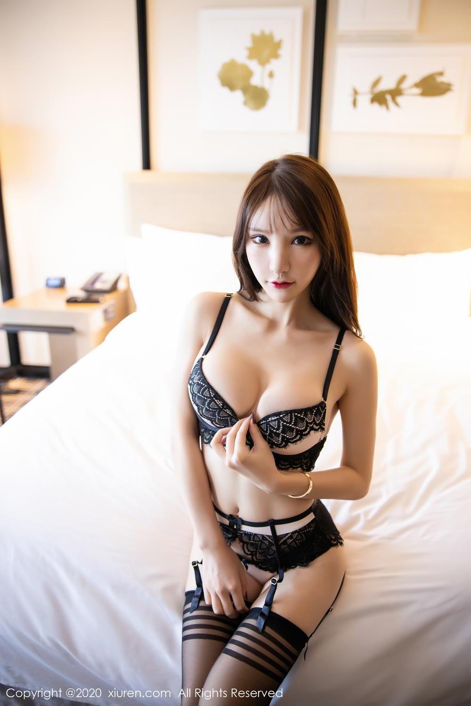 [XiuRen] Vol.2118 Zhou Yu Xi 24P, Black Silk, Tall, Underwear, Xiuren, Zhou Yu Xi