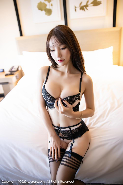 [XiuRen] Vol.2118 Zhou Yu Xi 25P, Black Silk, Tall, Underwear, Xiuren, Zhou Yu Xi