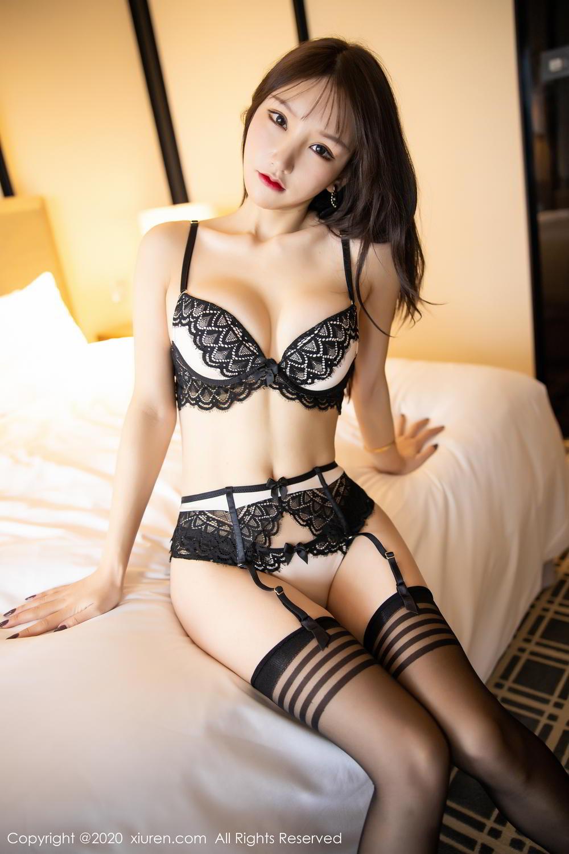 [XiuRen] Vol.2118 Zhou Yu Xi 27P, Black Silk, Tall, Underwear, Xiuren, Zhou Yu Xi