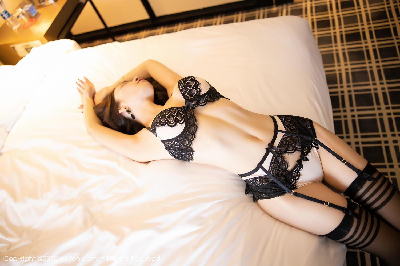 [XiuRen] Vol.2118 Zhou Yu Xi 2P, Black Silk, Tall, Underwear, Xiuren, Zhou Yu Xi
