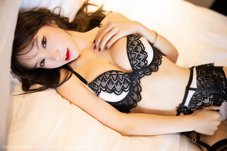 [XiuRen] Vol.2118 Zhou Yu Xi 4P, Black Silk, Tall, Underwear, Xiuren, Zhou Yu Xi
