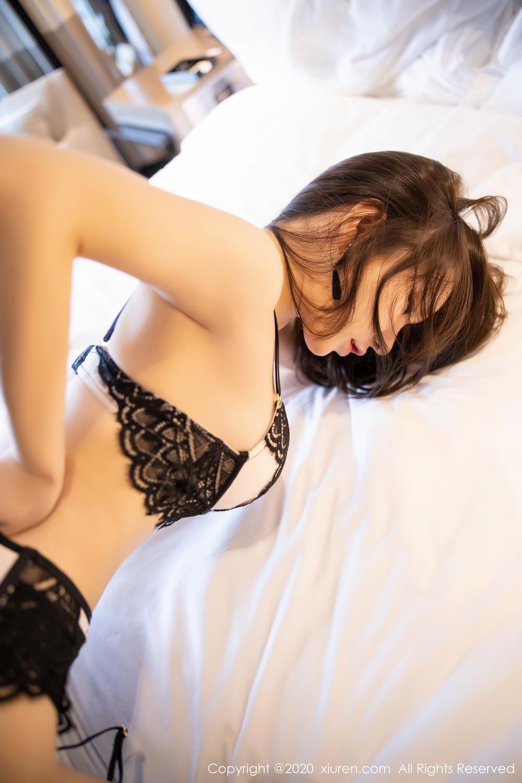 [XiuRen] Vol.2118 Zhou Yu Xi 52P, Black Silk, Tall, Underwear, Xiuren, Zhou Yu Xi