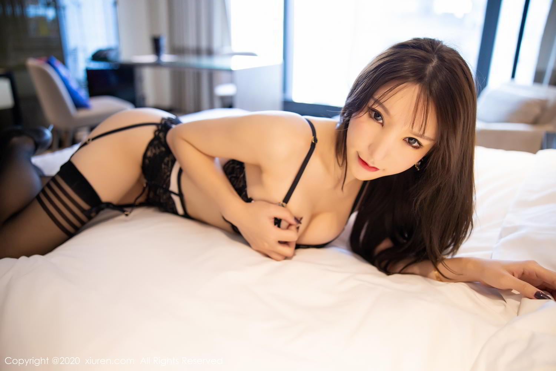 [XiuRen] Vol.2118 Zhou Yu Xi 54P, Black Silk, Tall, Underwear, Xiuren, Zhou Yu Xi