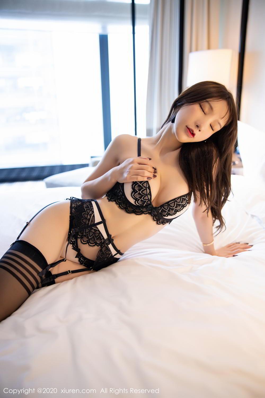[XiuRen] Vol.2118 Zhou Yu Xi 55P, Black Silk, Tall, Underwear, Xiuren, Zhou Yu Xi
