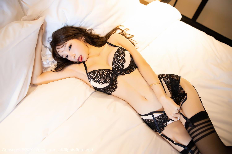 [XiuRen] Vol.2118 Zhou Yu Xi 58P, Black Silk, Tall, Underwear, Xiuren, Zhou Yu Xi