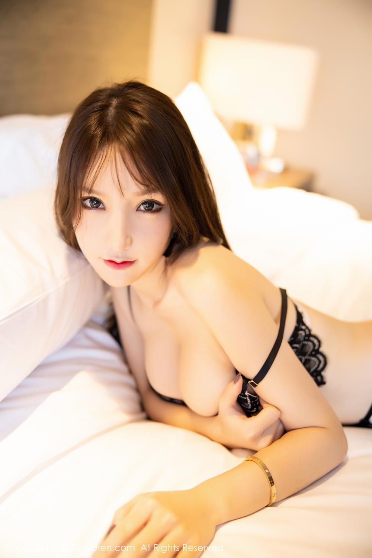 [XiuRen] Vol.2118 Zhou Yu Xi 5P, Black Silk, Tall, Underwear, Xiuren, Zhou Yu Xi