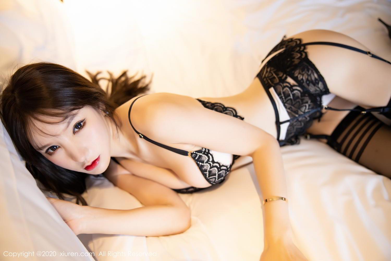[XiuRen] Vol.2118 Zhou Yu Xi 66P, Black Silk, Tall, Underwear, Xiuren, Zhou Yu Xi