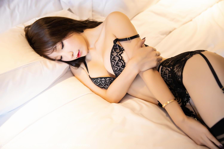 [XiuRen] Vol.2118 Zhou Yu Xi 70P, Black Silk, Tall, Underwear, Xiuren, Zhou Yu Xi